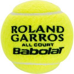 Tennisball Roland Garros All Court 4er Dose gelb