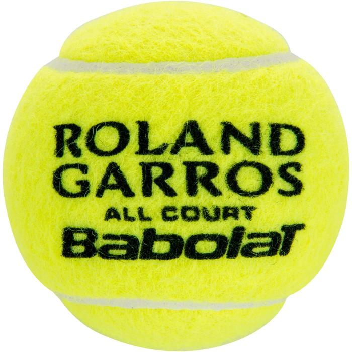 Tennisballen Roland Garros All Court set van 4 geel