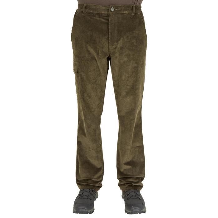 Pantalon chasse velours 300 vert - 41271