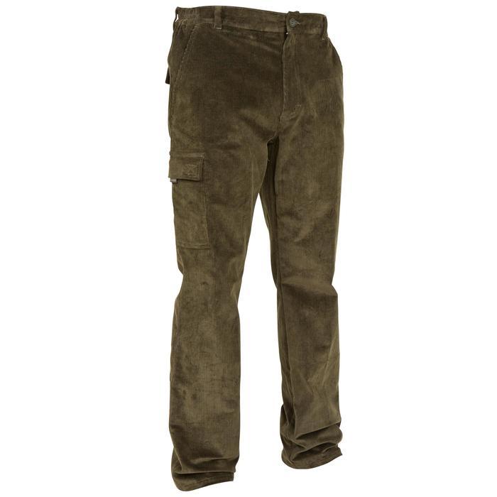 Pantalon chasse velours 300 vert - 41272