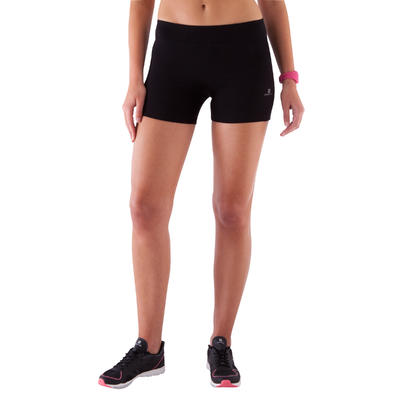 Fit+ 500 Women's Slim-Fit Gym & Pilates Shorts - Black