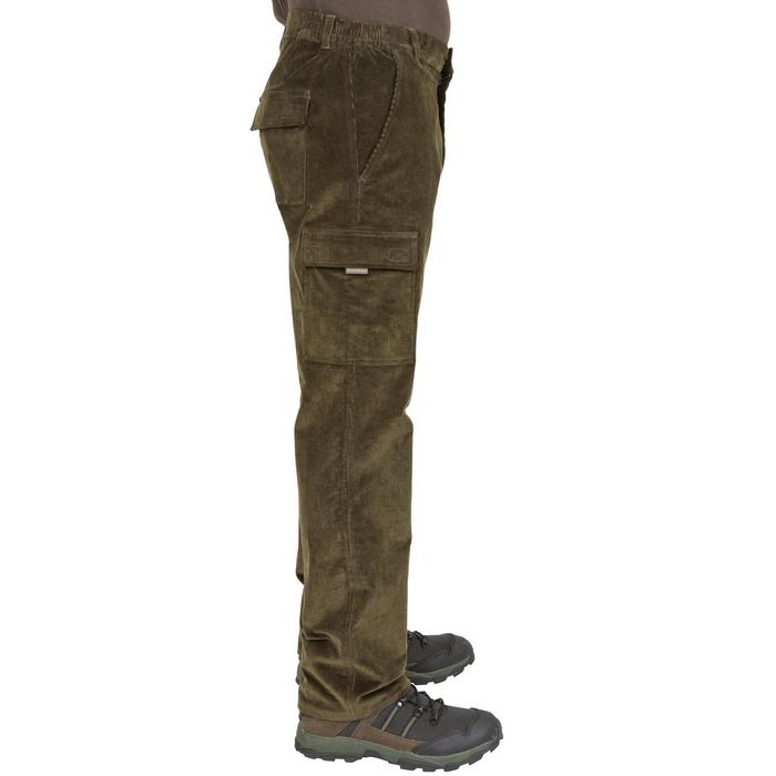 Pantalon chasse velours 300 vert - 41275