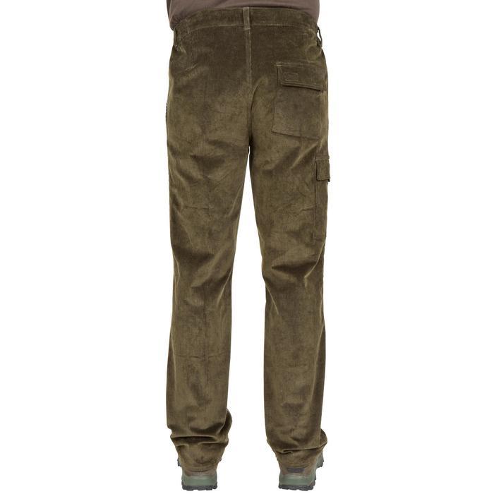 Pantalon chasse velours 300 vert - 41277
