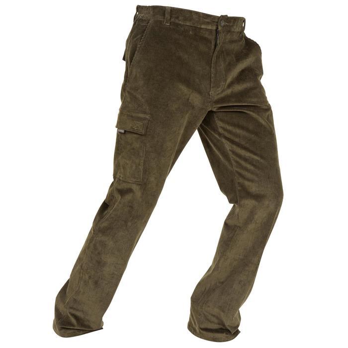 Pantalon chasse velours 300 vert - 41279