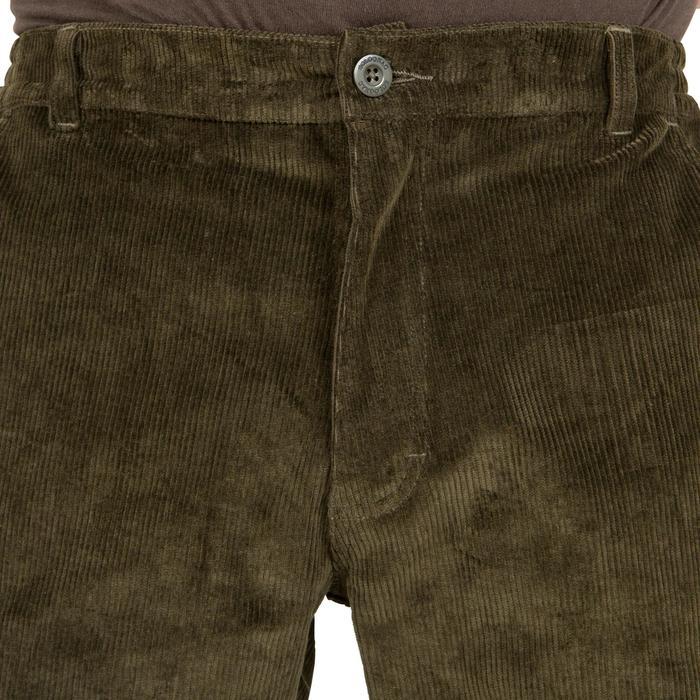 Pantalon chasse velours 300 vert - 41286