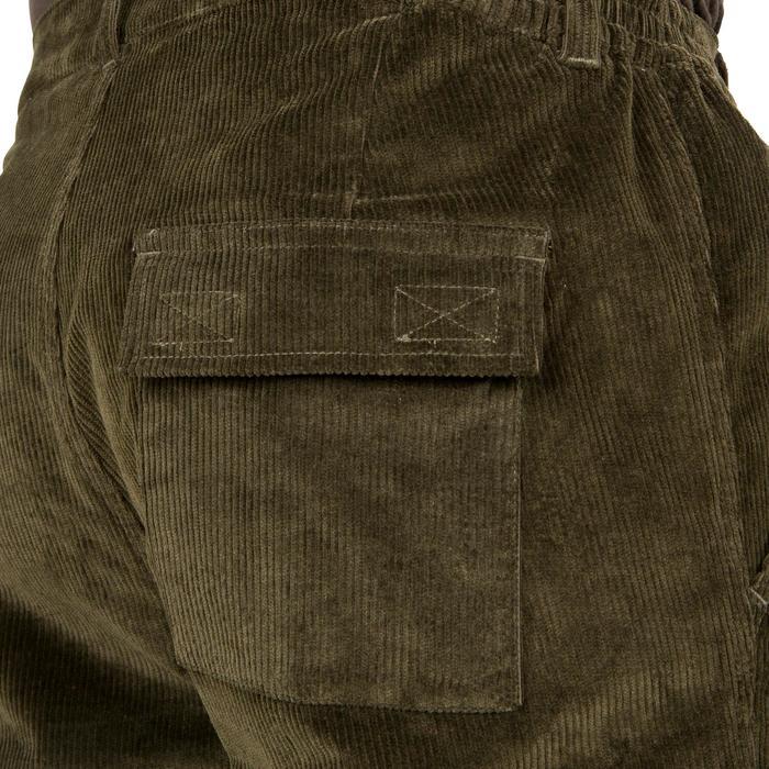 Pantalon chasse velours 300 vert - 41287