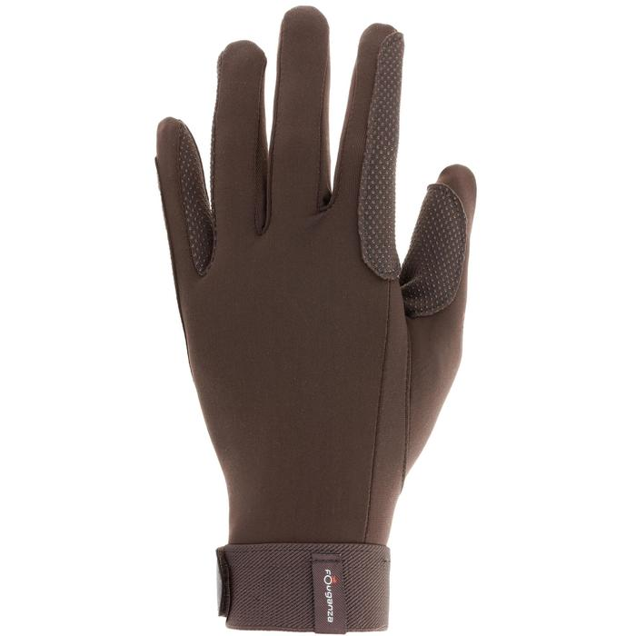 Riding Adult Horse Riding Gloves - Black - 412878