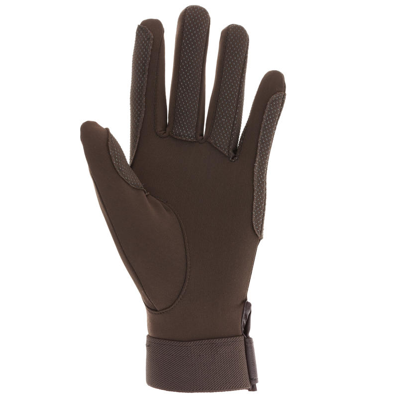 Riding Adult Horse Riding Gloves - Brown