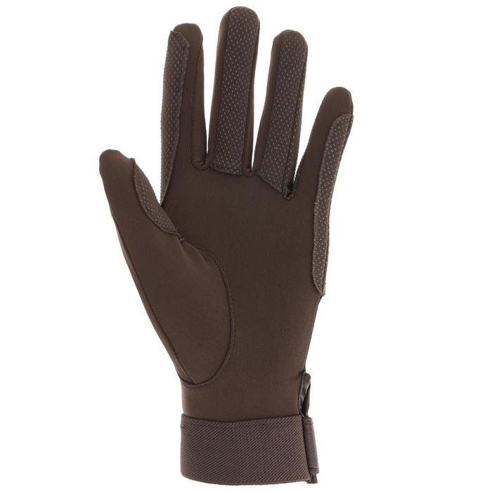 Riding Adult Horse Riding Gloves - Black - 412879