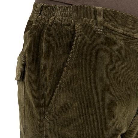 pantalon chasse velours 300 vert solognac