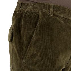 Pantalón de caza pana 300 verde