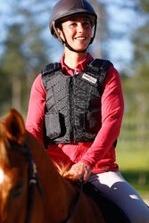 Bodyprotector Smartrider voor volwassenen, ruitersport, zwart - 412885