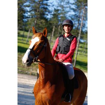 Chaleco de protección equitación adulto SMARTRIDER negro
