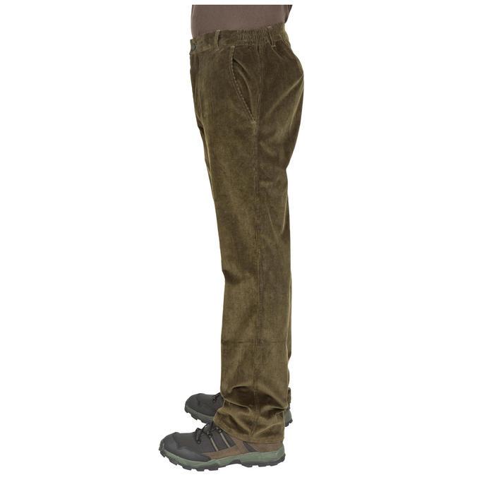 Pantalon chasse velours 300 vert - 41289