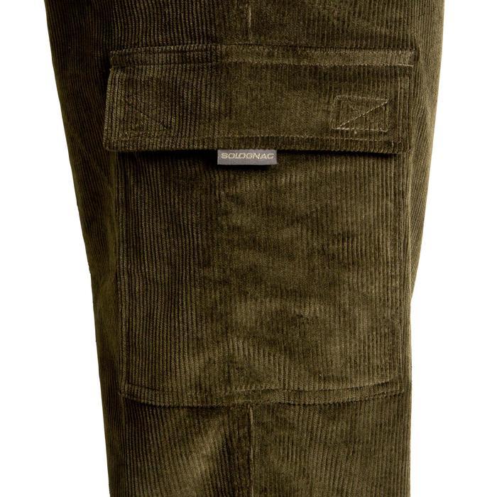 Pantalon chasse velours 300 vert - 41292