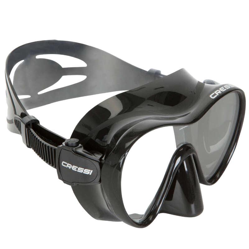 SCD MASKS & SNORKELS Scuba Diving - Cressi F1 Mask Black CRESSI-SUB - Scuba Diving Equipment