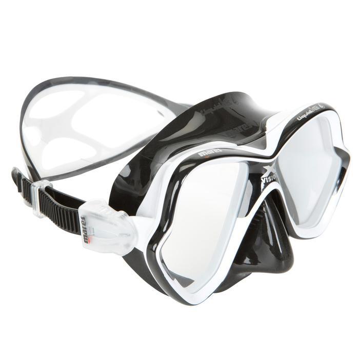 Masque de plongée sous-marine X-Vision Liquid Skin noir - 412923