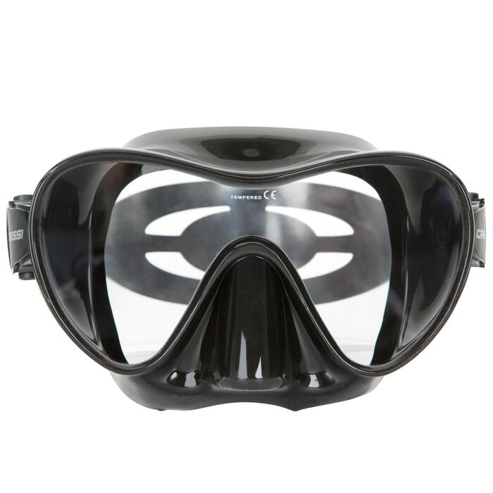 Masque de plongée sous-marine F1 noir frameless