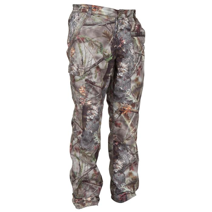 Pantalon Caza Solognac 100 Hombre Camuflaje Impermeable Marron Solognac Decathlon