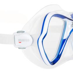 Duik-/snorkelmasker X-Vision blauw - 412936