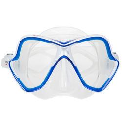 Duik-/snorkelmasker X-Vision blauw - 412939