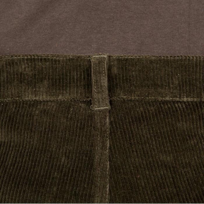Pantalon chasse velours 300 vert - 41296