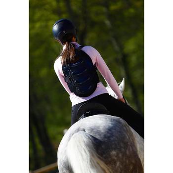 Rugbeschermer Safety voor kinderen en volwassenen, ruitersport, zwart