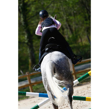 Protector dorsal de equitación adulto y niños SAFETY negro