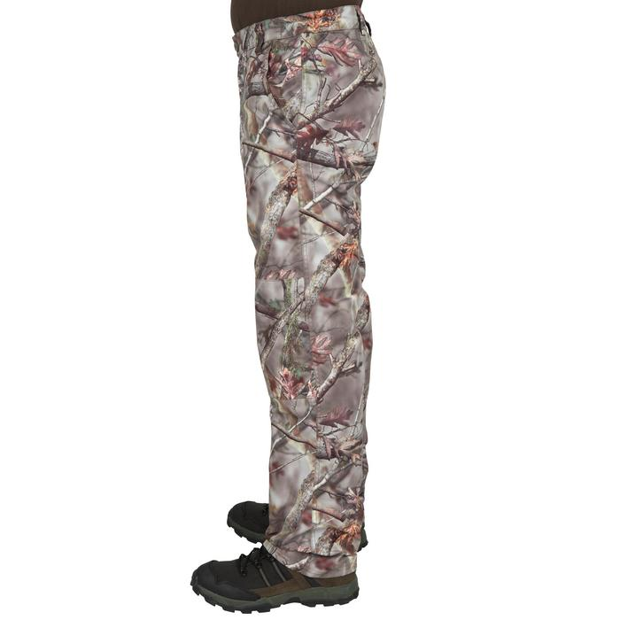 HUNTING WARM TROUSERS 100 - CAMOUFLAGE BROWN