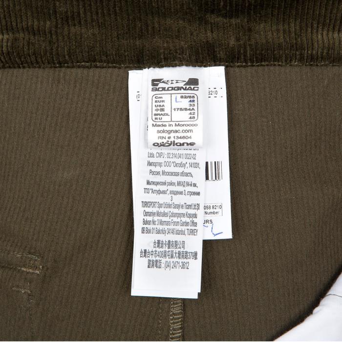 Pantalon chasse velours 300 vert - 41309
