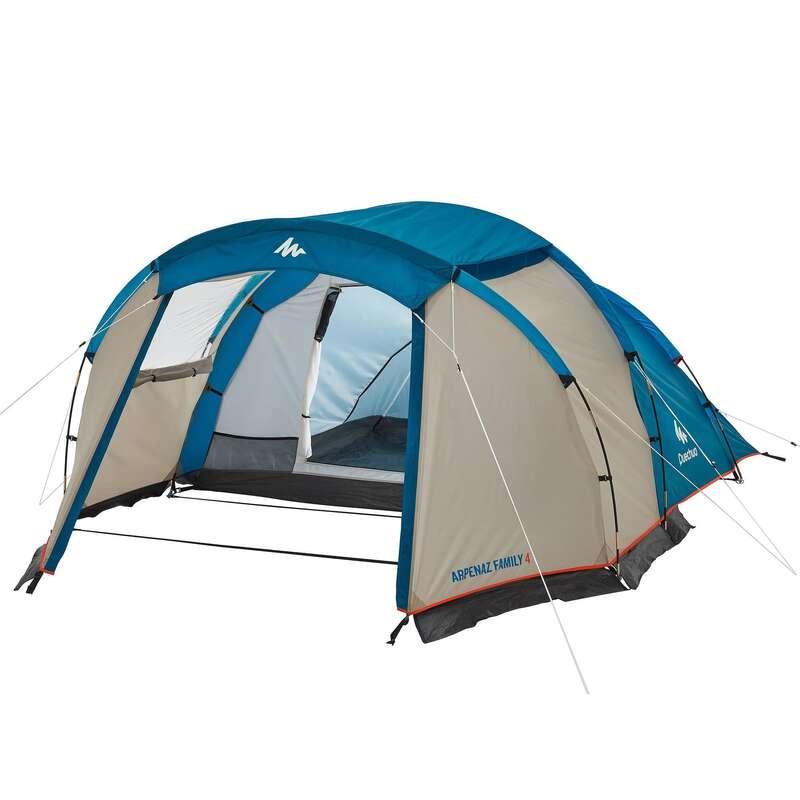 FAMILJETÄLT, BASLÄGER NATURVANDRING Camping - Tält ARPENAZ 4 QUECHUA - Campingtält