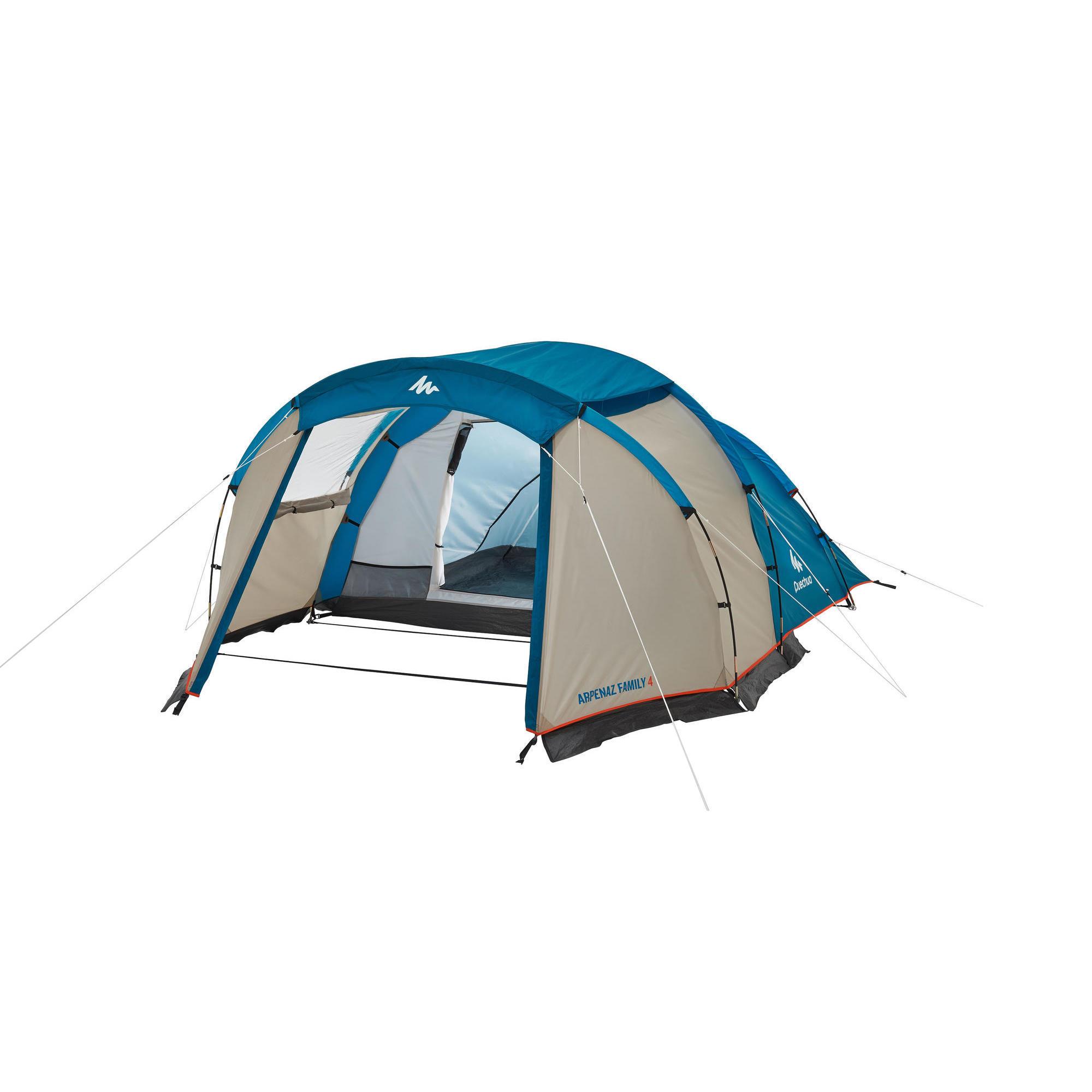 Quechua Tent 4 personen met bogen ARPENAZ 4 | 1 slaapcompartiment