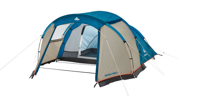 BASE CAMP SHELTERS, FAMILY TENTS Camping - Arpenaz 4 Family Tent - 4 Man QUECHUA - Tents