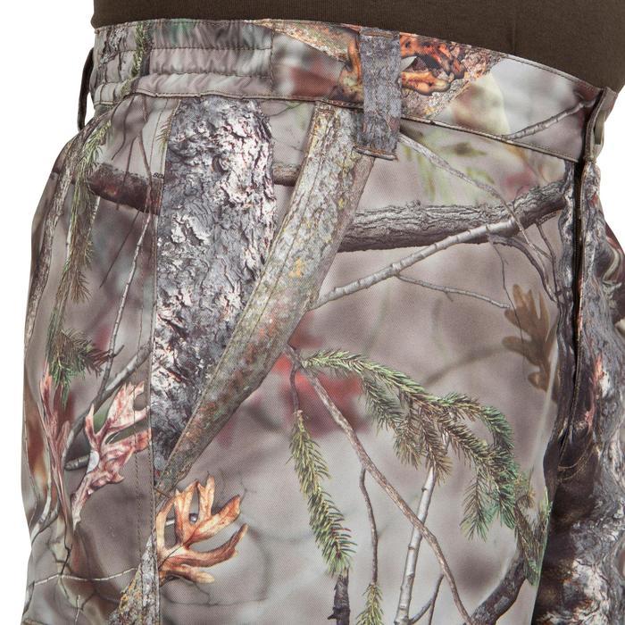 P100 Waterproof Hunting Trousers Brown Camo Solognac Decathlon