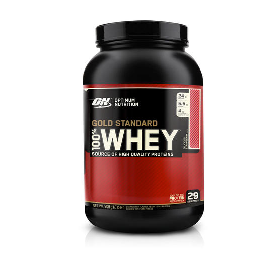 Eiwitten Optimum Nutrition 100% Whey Gold Standard aardbei 908 g - 413202