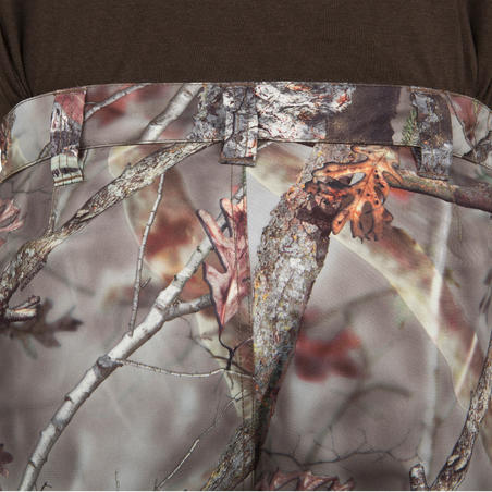 POSIKAM 100 WATERPROOF HUNTING PANTS - CAMOUFLAGE BROWN