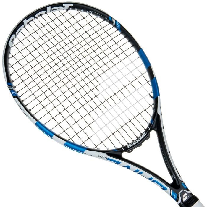 Tennisracket Pure Drive Lite zwart wit blauw - 413637