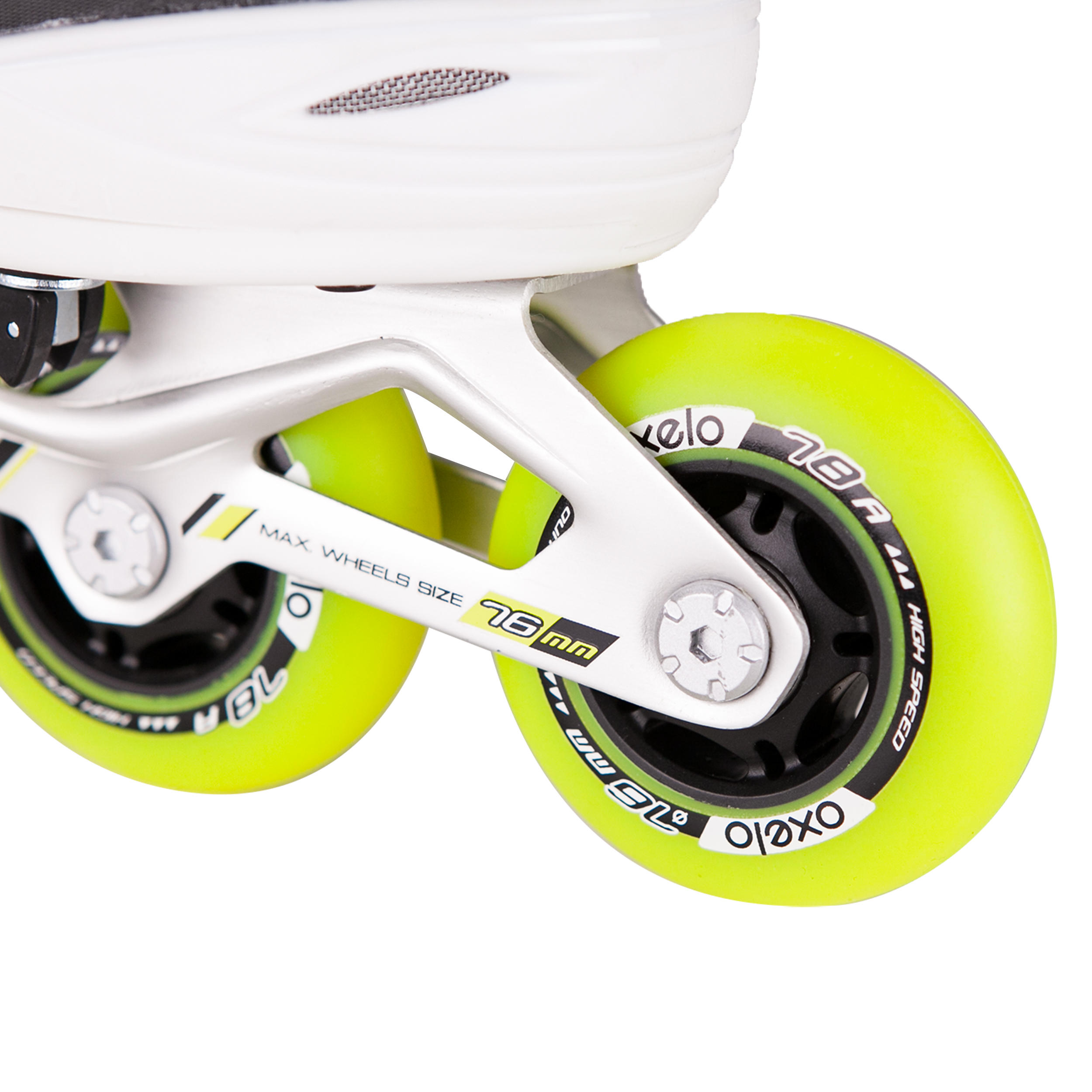 KIDS ROLLER SKATES FIT 5 JR YELLOW