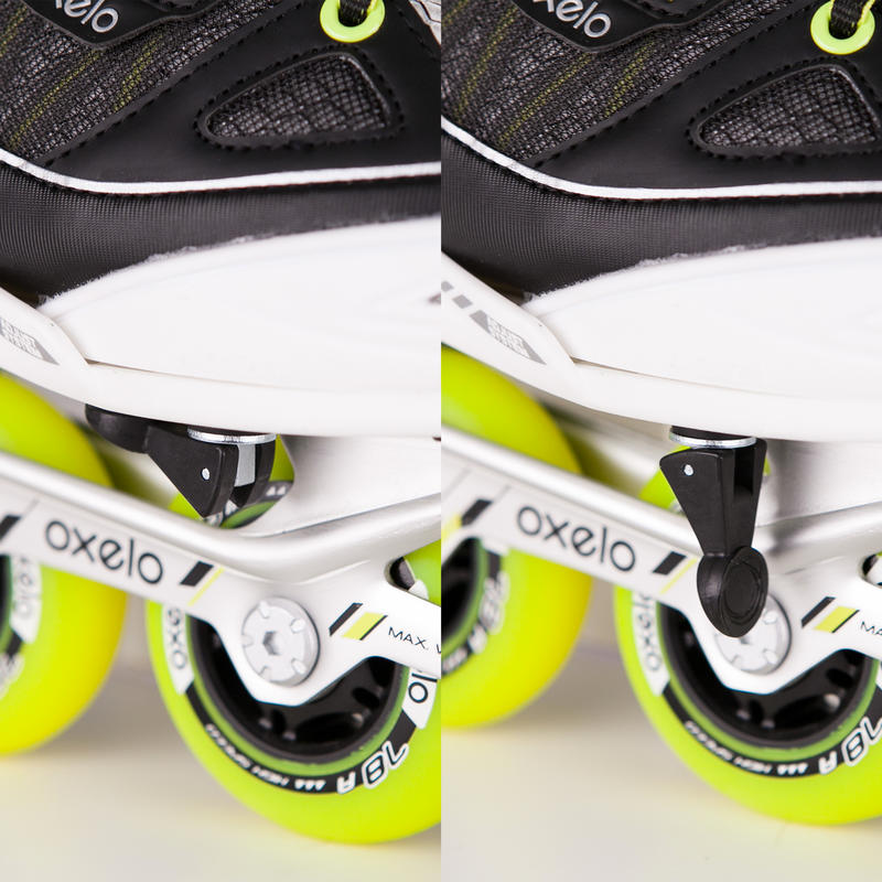 KIDS INLINE ROLLER SKATES FIT 5 JR YELLOW