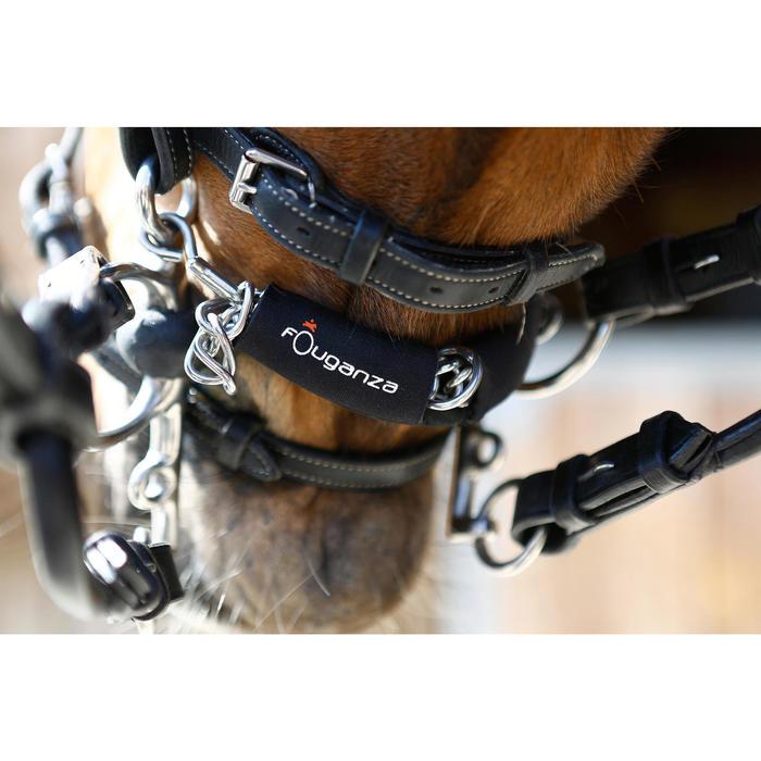 Protège-gourmette équitation cheval en néoprène noir - 415031