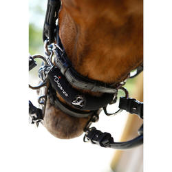 Kinnkettenschoner Neopren Pferd schwarz