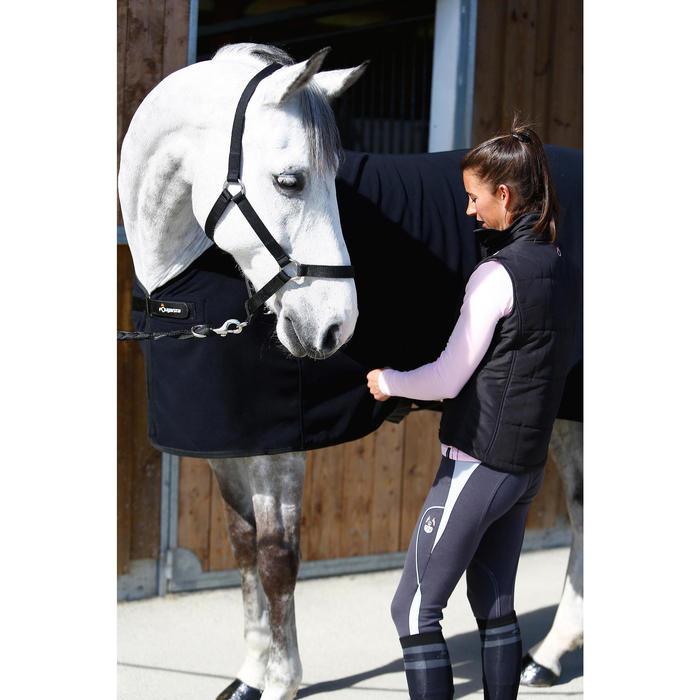 Cabestro de equitación negro para caballo y poni SCHOOLING