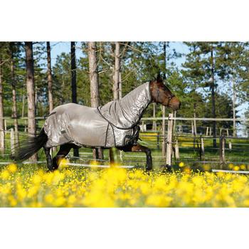 Cabezada de equitación caballo y poni SCHOOLING marrón