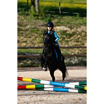 """Sattel Vielseitigkeitssattel Synthia VS Synthetik 15"""" Pony schwarz"""