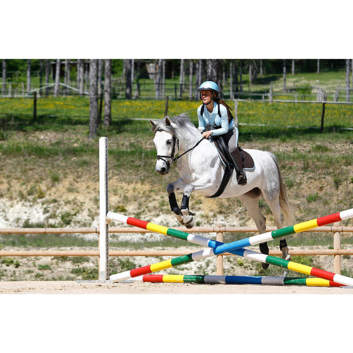 "Silla Equitación Fouganza Schooling Caballo Polivalente Negro 16""5 Cuero"