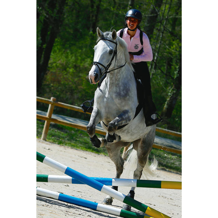 """Sattel Vielseitigkeitssattel Schooling Leder 16,5"""" für Pferd/Pony schwarz"""