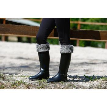 Forro para botas de equitación adulto fibra polar / piel sintética