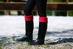 Fleece sokken voor ruiterlaarzen met randje in imitatiebont - 415332