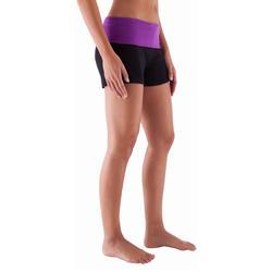 Yogashort in katoen uit biologische teelt, voor dames - 415780