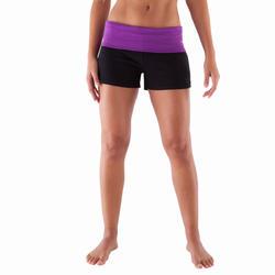 Yogashort in katoen uit biologische teelt, voor dames - 415782